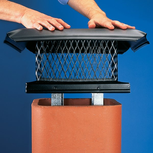 A chimney cap prevents debris from being brought into your flue system; with a cap a properly working gas log set should never require the flue to be cleaned.