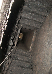 picture of smoke chamber stair stepping