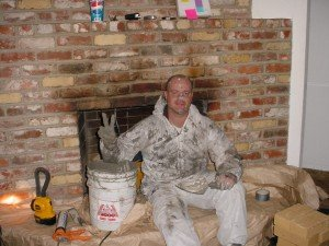 AZ sitting on hearth with chamber tech 2000 all over himself 2